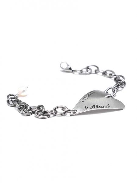 Handmade heart charm cast in beautiful fine pewter, hand stamped with name or date. Perfect gift for wife, daughter