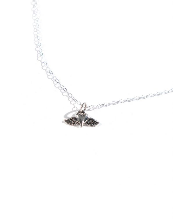 A Piece Of My Heart Is In Heaven Sterling Silver Necklace