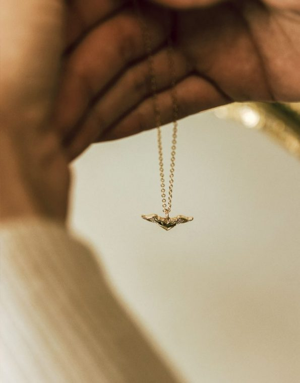 a-piece-of-my-heart-is-in-heaven-gold-necklace-model