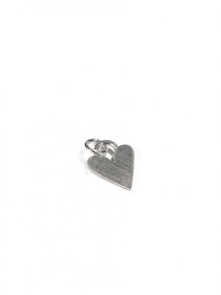A handmade fine pewter heart charm as a beautiful addition to your necklace. Perfect gift for wife, mom