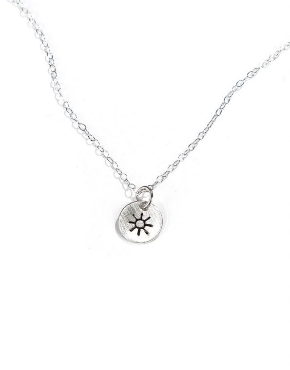 Be happy, be bright, be you! Available in beautiful sterling silver or gold-filled disc. Great gift for daughter, friend