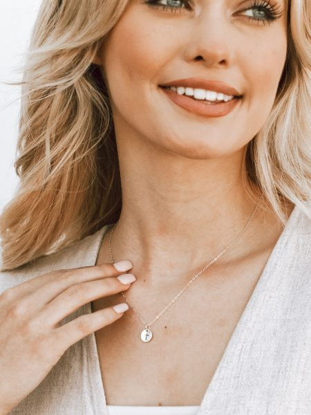 Dainty cross necklace - a sweet way to keep that special reminder with you all day long. Perfect for wife, daughter, friend.