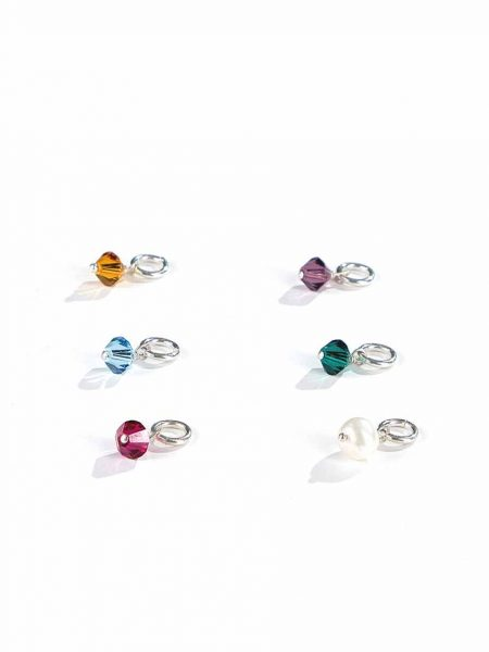 Made from genuine Swarovski crystals and sterling silver, birthstones charms make for perfect birthstone jewelry