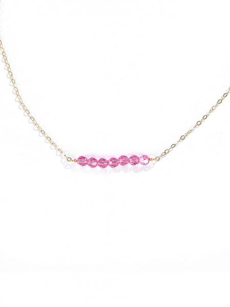 Birthstone Bar Necklace. 7 Swarovski birthstones carefully crafted onto a gold filled or sterling silver chain. Best personalized bracelet for wife, daughter