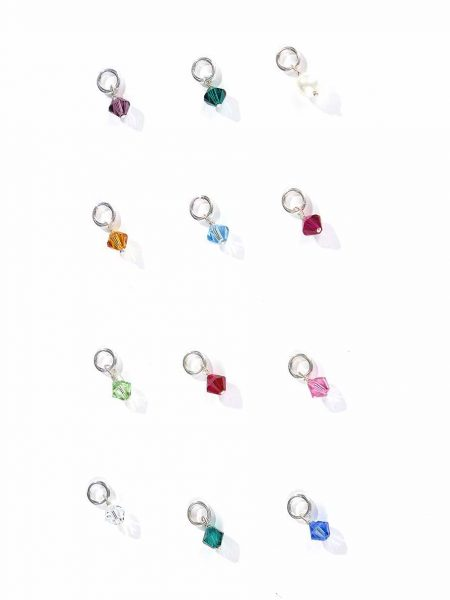 Gift your loved ones their birthstones to add to their existing jewelry. Made from genuine Swarovski crystals and sterling silver.