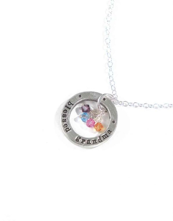 Blessed Grandma With Birthstones Necklace
