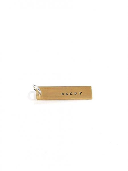 Hand stamped custom brass charm, perfect gift for a loved one to add to their jewelry. Select the shape as per choice