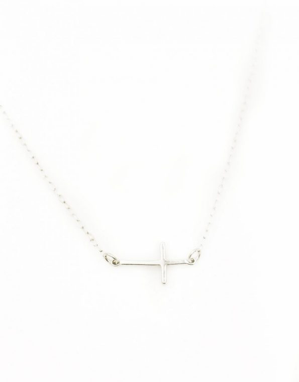 Carried by the cross sterling necklace is a beautiful reminder of God's grace, love, and redemption. Perfect gift for baptism, wedding