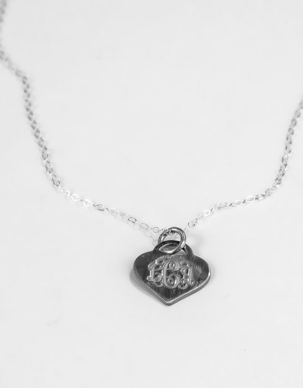 classic-heart-monogram-silver-necklace