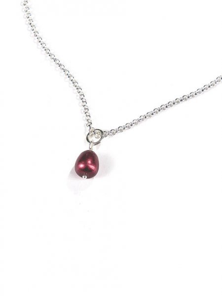 Cranberry pearl charm makes a perfect gift for your boss, colleague, or a friend. Add to the existing necklace
