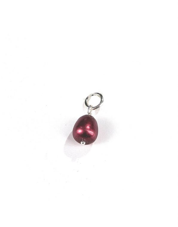 Cranberry pearl drop charm to add to your existing chain or necklace. Perfect gift for boss, friend, colleague