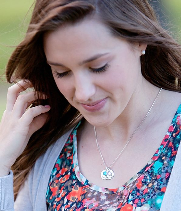 dainty-drops-sterling-silver-necklace-model