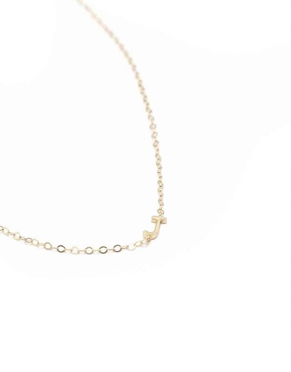 Dainty initials are gold plated over sterling silver and hung on a beautiful gold-filled dainty chain.