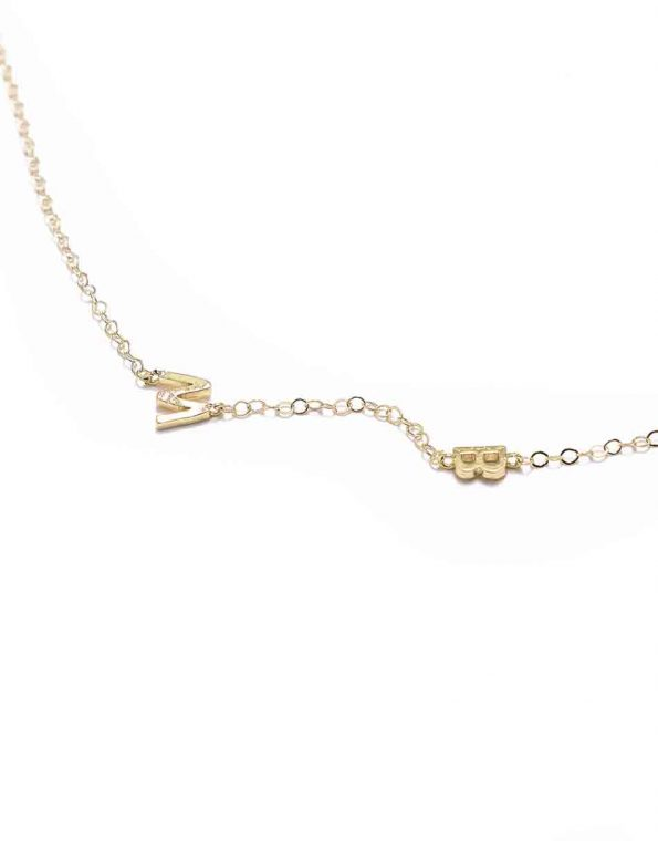 Dainty Gold Connected Initial Necklace