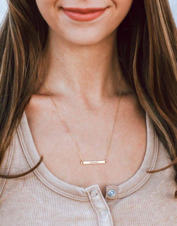 Dainty Name Bar Necklace