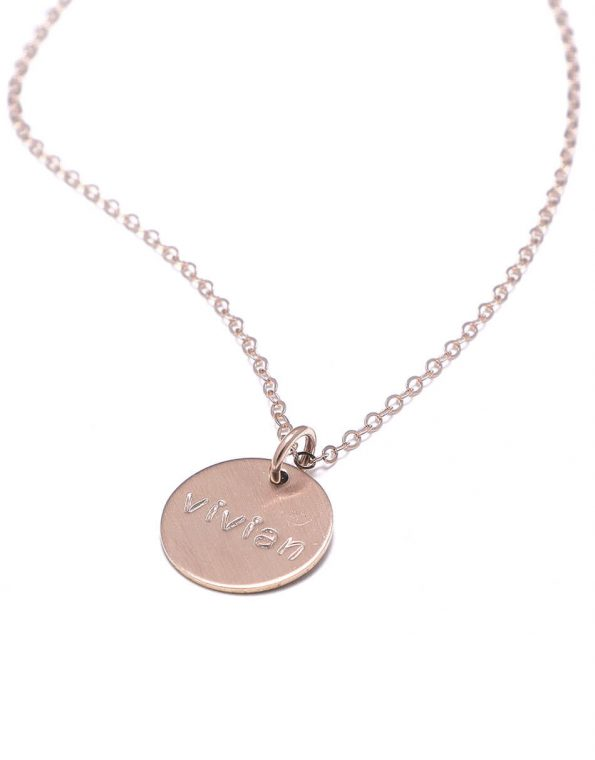 Dainty Names Rose Gold Necklace