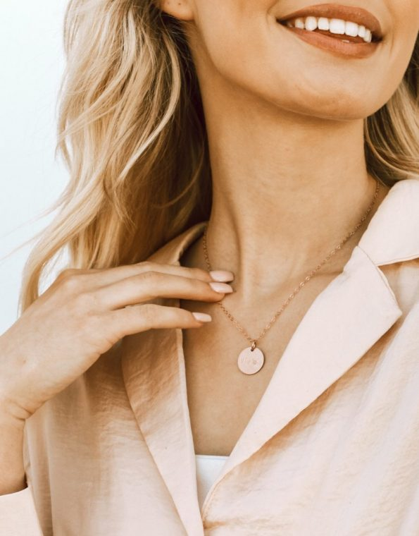 Dainty Name Rose Gold Necklace