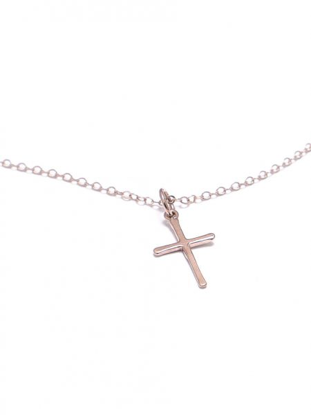 A beautiful and dainty rose gold cross necklace. Best gift on baptism or for mom, spouse, sibling