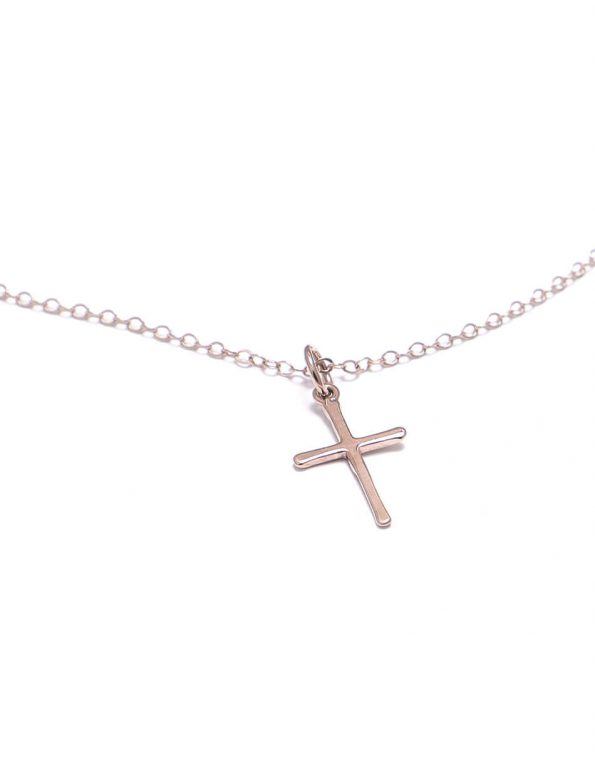 Dainty Rose Gold Cross Necklace