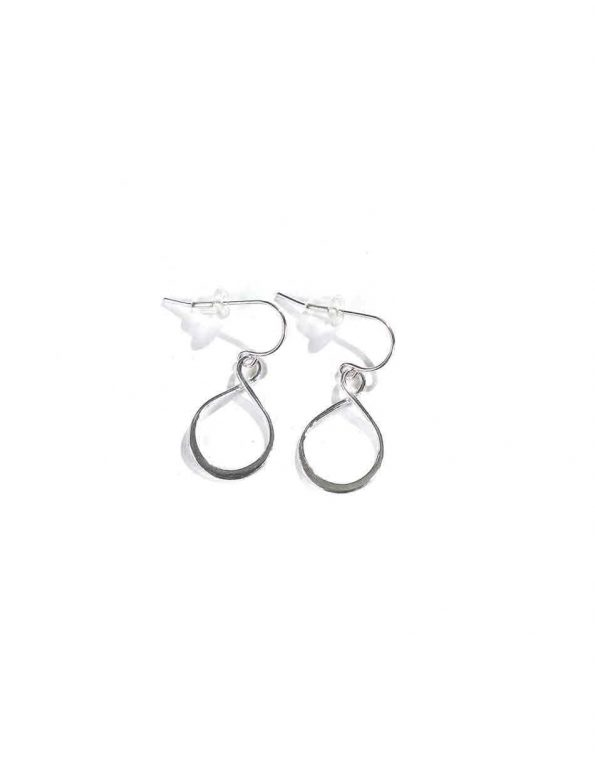 Made in sterling silver and hung on sterling silver ear wires, these earrings are beautiful and dainty. Perfect gift for girls of any age.