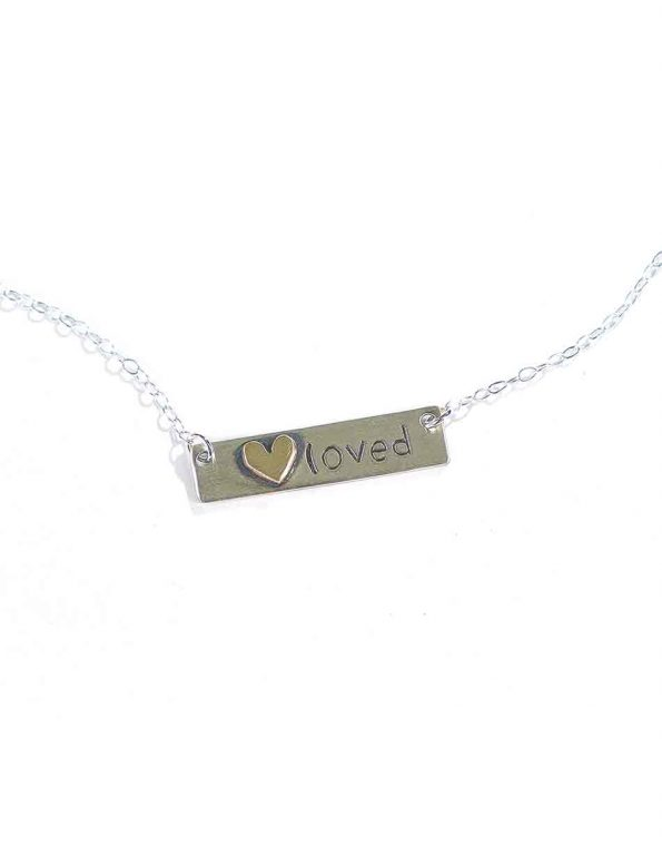 Darling, You Are Loved Sterling Silver Necklace