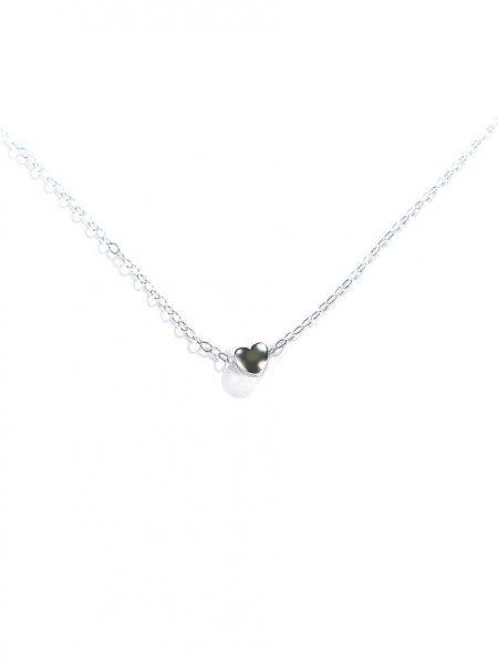 Dainty sterling silver puffy heart hung on a sterling silver chain. Perfect jewelry for your co-worker, sister-in-law, or best friend.