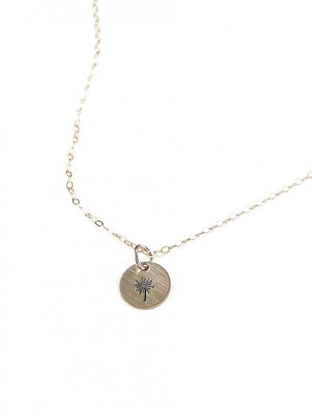 A dainty gold-filled disc charm hung on either a sterling silver or gold-filled chain. Perfect jewelry for a friend, sister or daughter