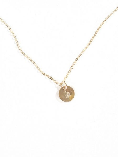 A gold-filled disc hung on a gold-filled dainty chain. Perfect necklace gift for mom, grandma, or wife