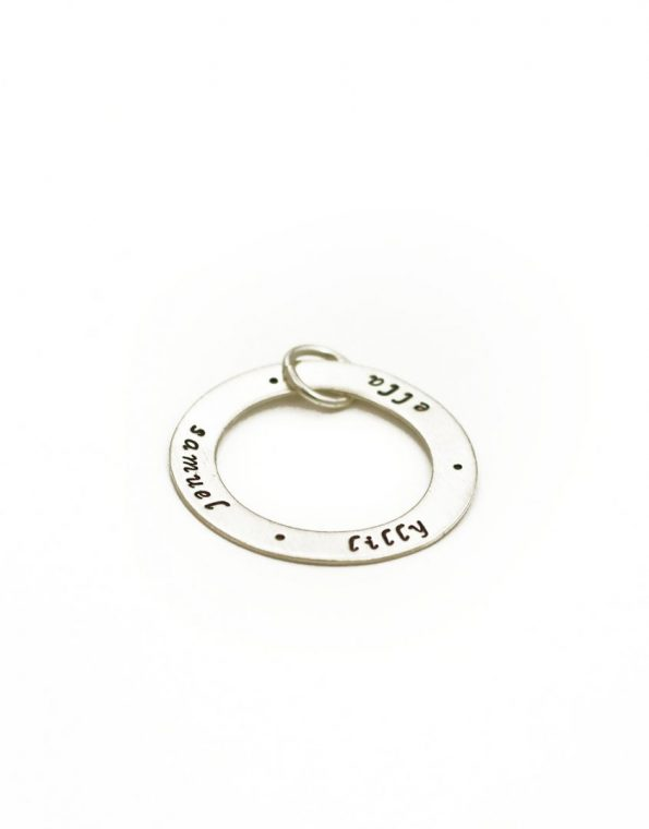 Sterling Silver Eternity Circle Charm