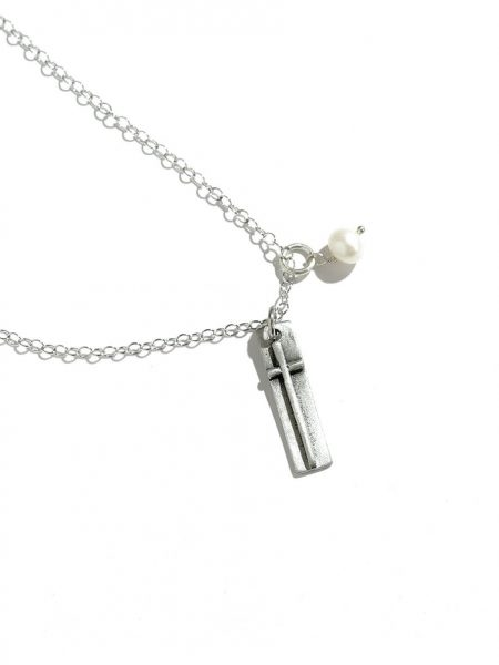 """Double-sided fine pewter charm with """"faith"""" hand stamped on the back. Best gift for a friend, sibling"""