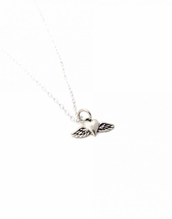 Find Your Wings Sterling Silver Necklace