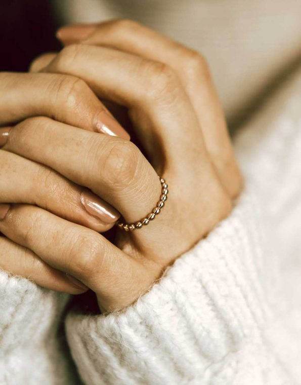 gold-beaded-stacking-ring-model-2