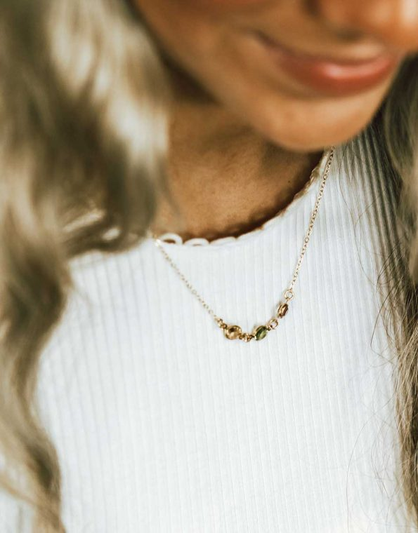 gold-connected-birthstone-necklace-model-3