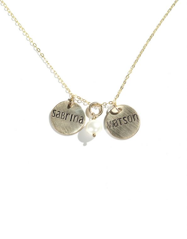 Gold Dainty Names Necklace