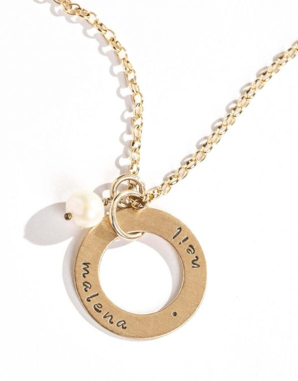 Gold Eternity Circle Necklace