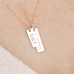 Capture a special memory with this making memories necklace. Capture the place, the city, the date, or the time.