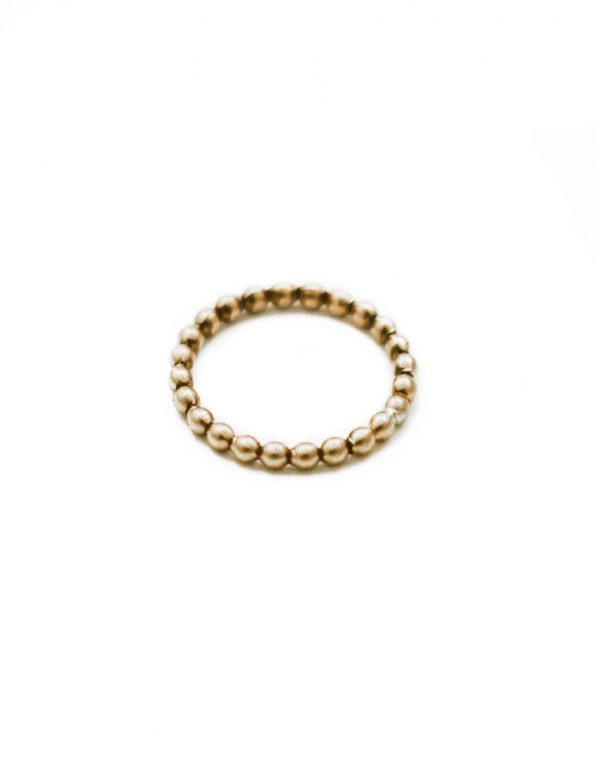 Golden Beaded Ring