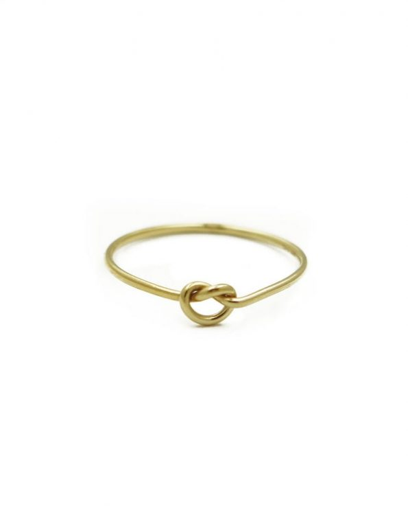 Golden dainty love knot ring. Gift the sweetest knot of love to that special someone. Perfect for spouse, moms