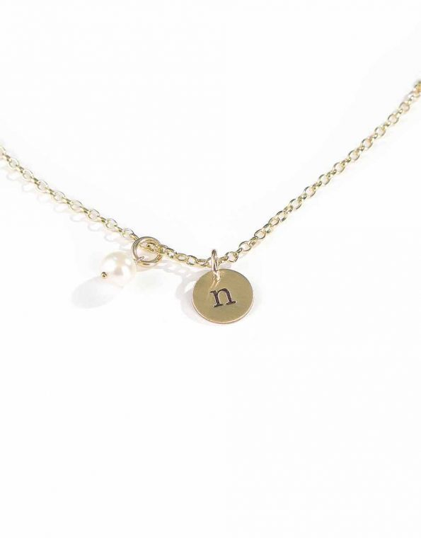 Gold Initials On A Chain Necklace