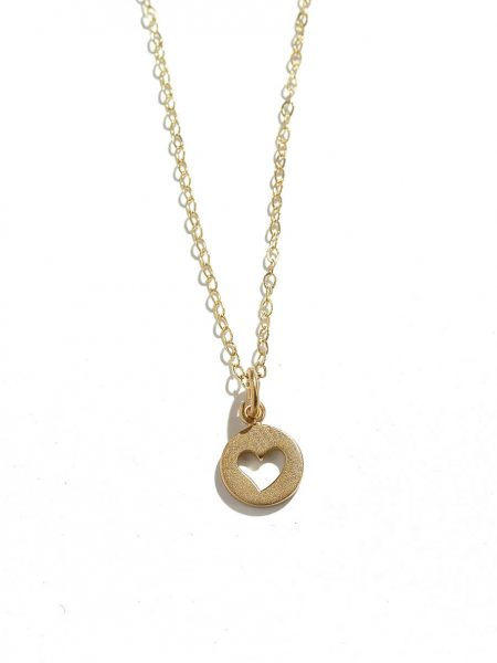 Dainty heart plated in 24k gold and hung on a beautiful gold plated dainty chain. Gorgeous golden necklace for your wife