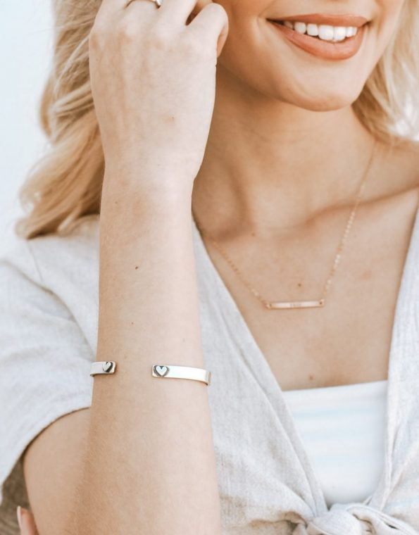 hearts-aligned-sterling-message-cuff-model
