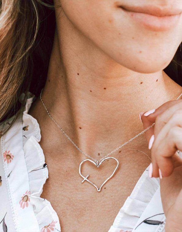 His Word In My Heart Charm Necklace