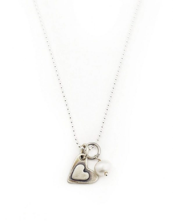 I Love You More Sterling Heart Necklace