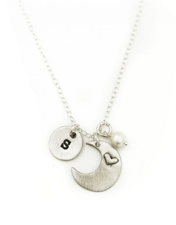 I Love You To The Moon And Back Necklace With Initials