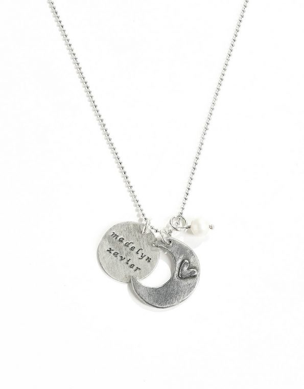 I Love You To The Moon And Back Necklace With Name Disc