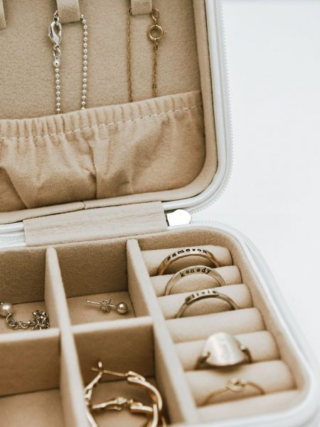 Beautiful travel jewelry case is the perfect travel additional for any trip you'll take. Cream colored on outside and sweetest blush color inside