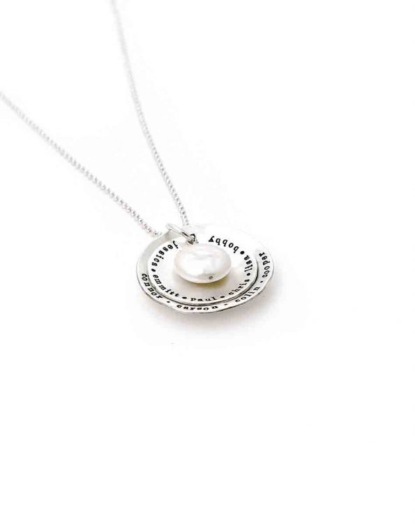 Layered Mother Of Pearl Sterling Silver Necklace