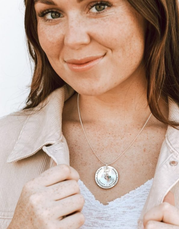 Layered Silver and Stone Necklace