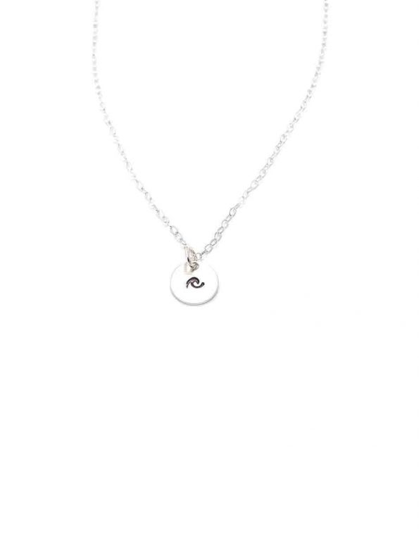 A gold-filled or sterling silver disc to capture the dainty little wave. Hung on a beautiful dainty chain. Best gift for sister, daughter or a friend