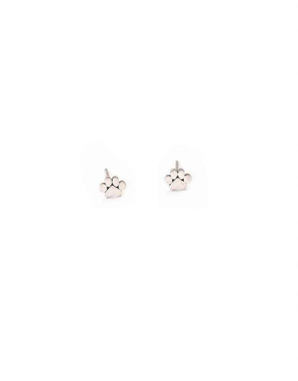 """Adorable """"love has four paws"""" sterling silver earrings for the pet lovers in your life or a gift for yourself."""